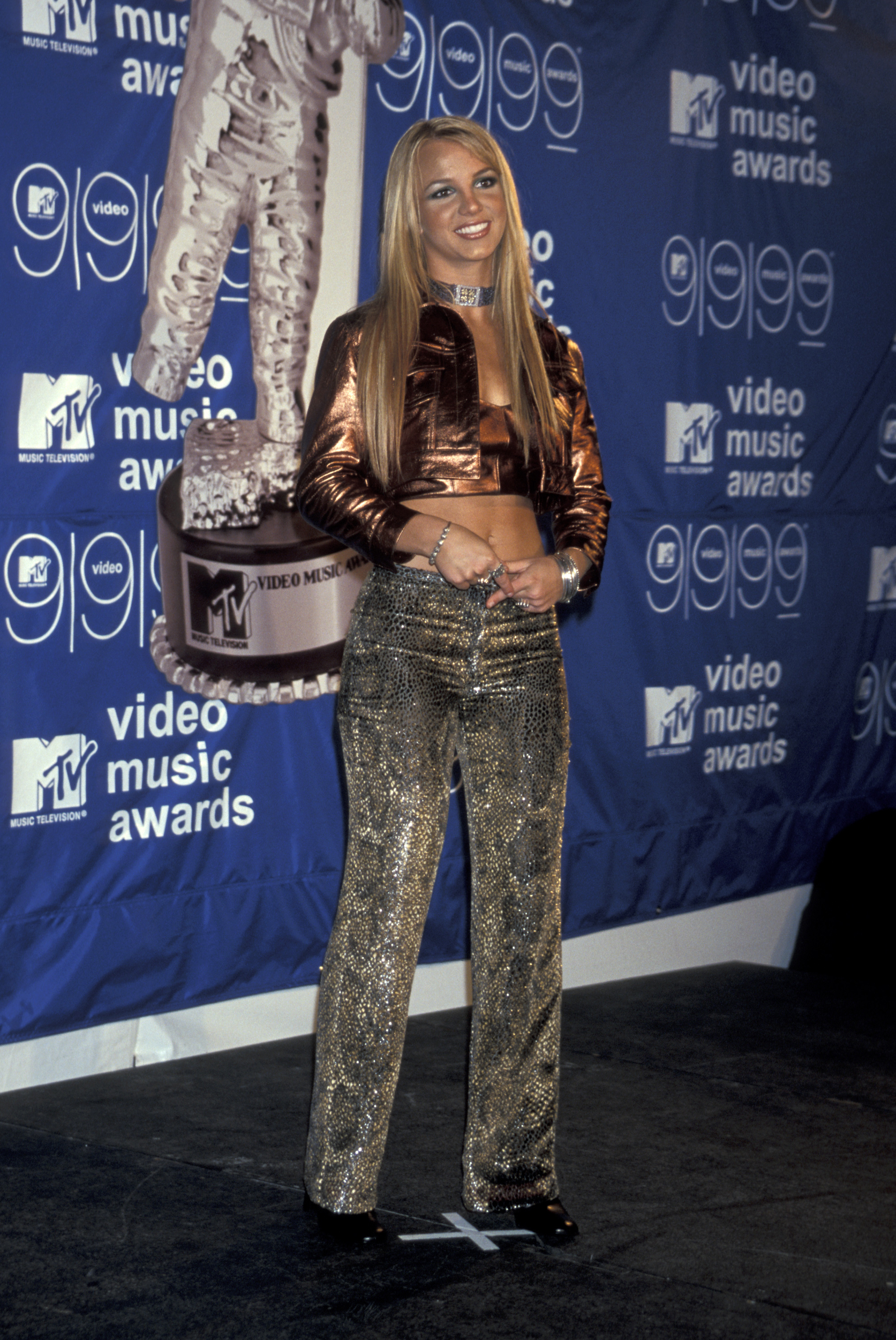 Britney Spears attends the MTV Video Music Awards in New York City on Sept. 9, 1999.