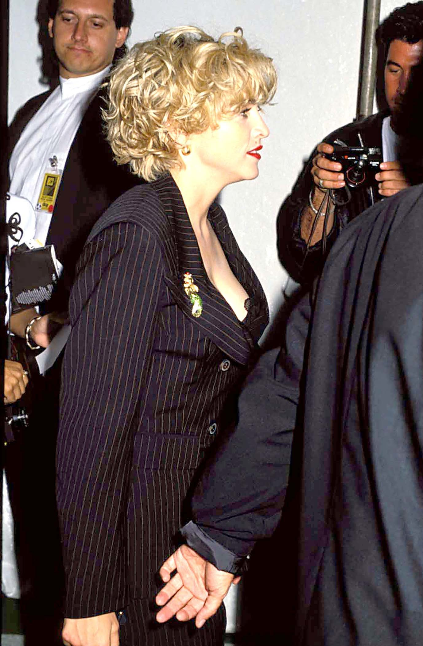 Madonna is pictured at the 1989 MTV Video Music Awards in Los Angeles on Sept. 6, 1989.