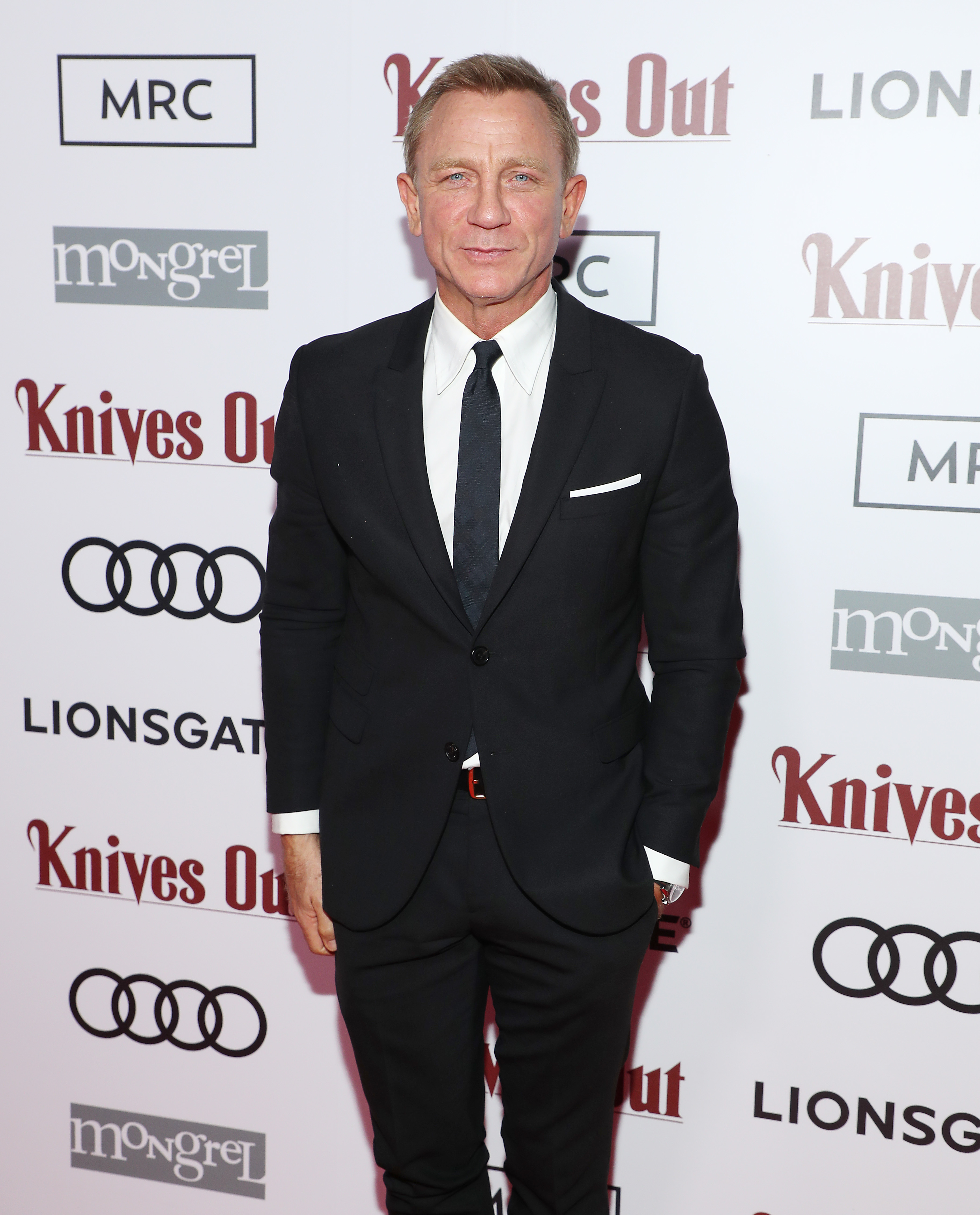 "Daniel Craig attends the post screening event for ""Knives Out"" hosted by Audi Canada, Lionsgate, Mongrel Media and MRC at Patria at the Toronto Film Festival on Sept. 7, 2019."
