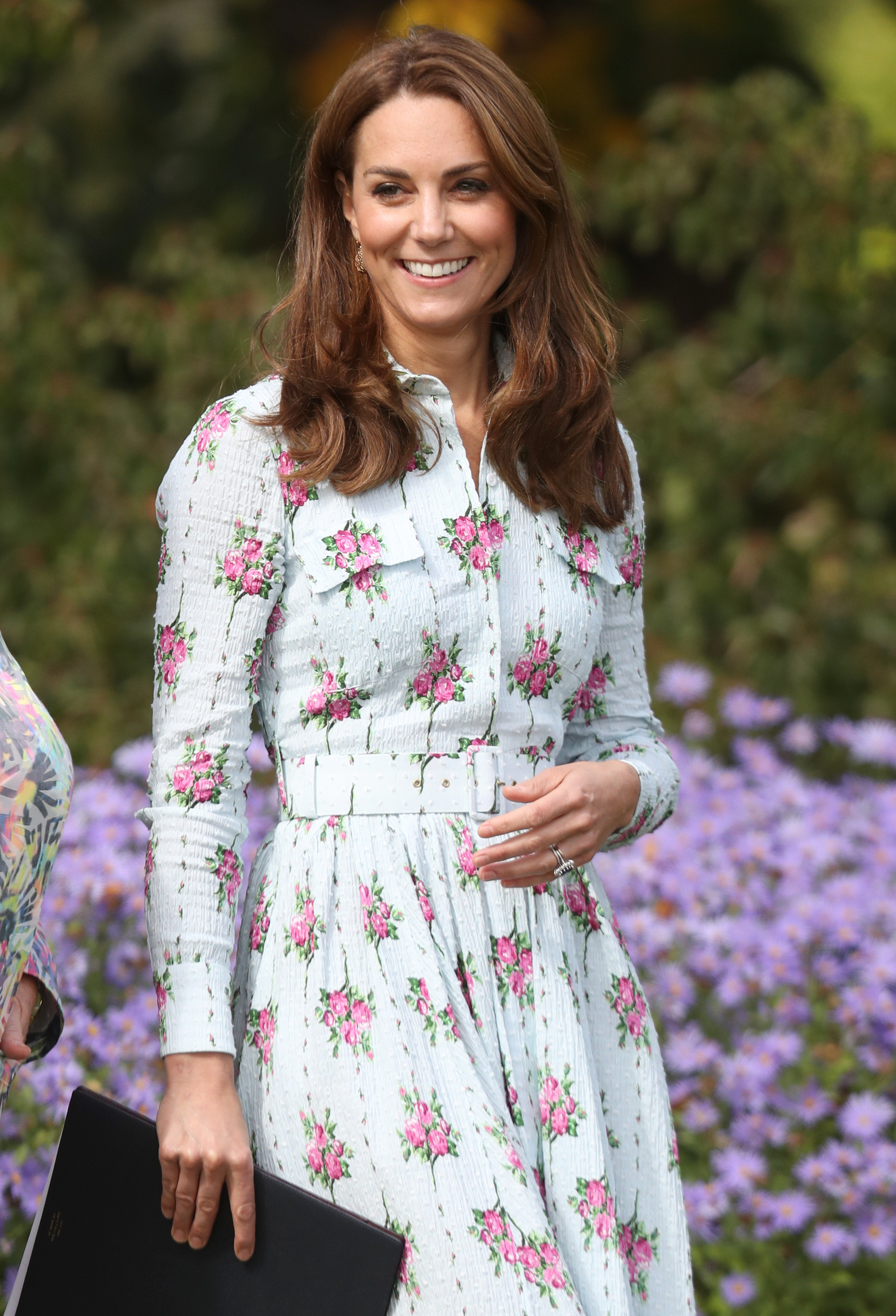 """Duchess Kate attends the """"Back to Nature"""" festival at the RHS Garden Wisley in Woking, England, on Sept. 10, 2019."""