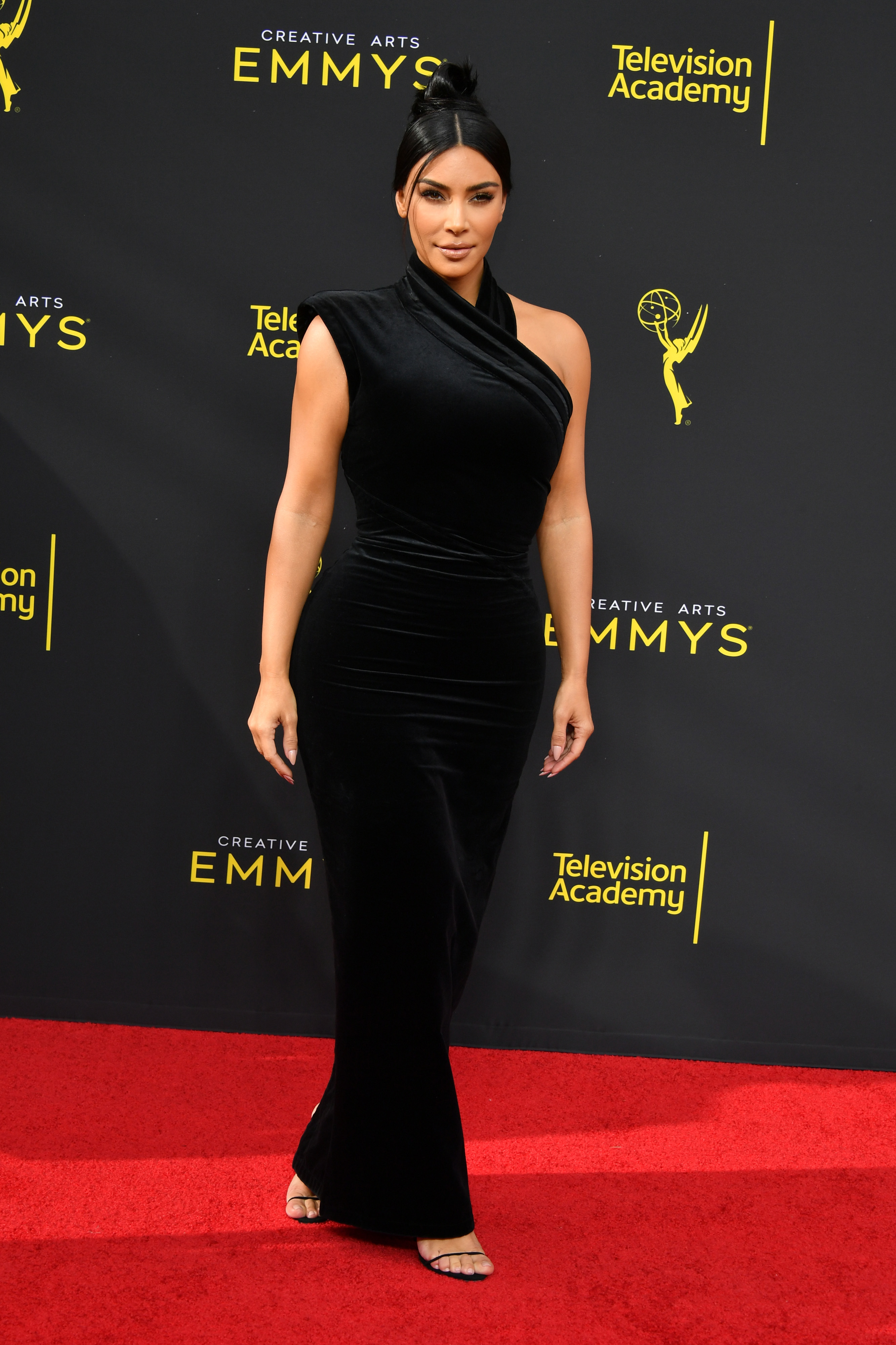 Kim Kardashian West attends the 2019 Creative Arts Emmy Awards in Los Angeles on Sept. 14, 2019.