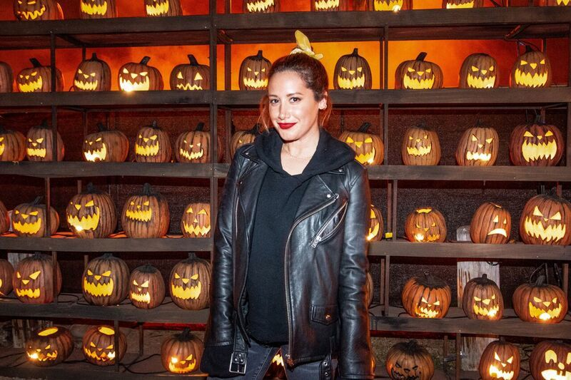 Ashley Tisdale attends the grand opening of the 2019 Los Angeles Haunted Hayride in Griffith Park in Los Angeles on Sept. 28, 2019.