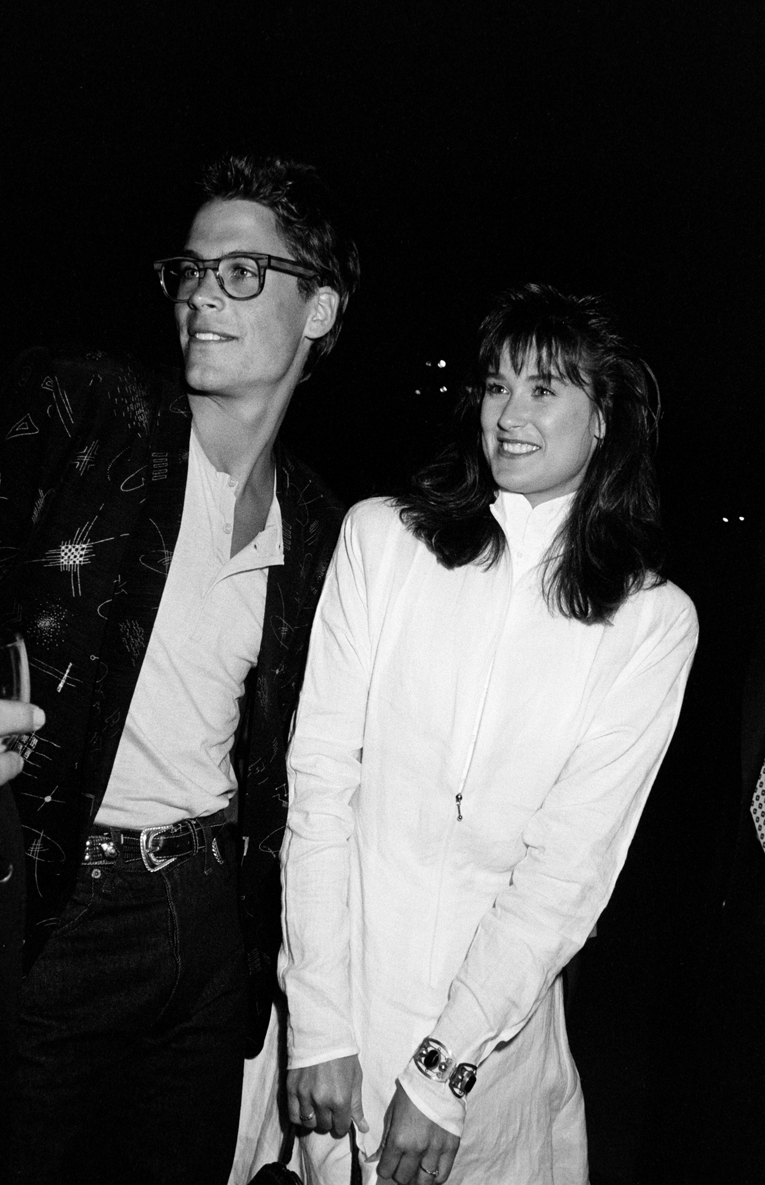 Rob Lowe and Demi Moore pose together in 1986.
