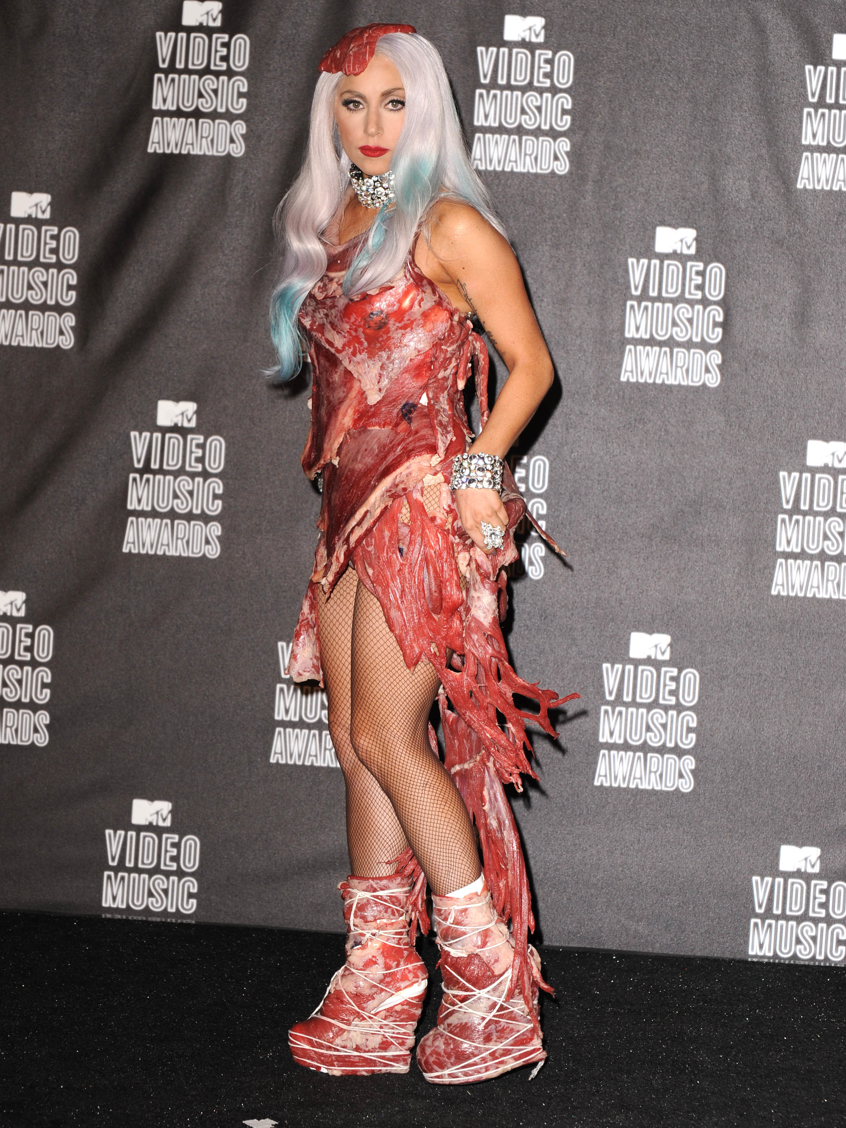 Lady Gaga attends the 2010 MTV Video Music Awards at Nokia Theatre L.A. Live in Los Angeles on Sept. 12, 2010.