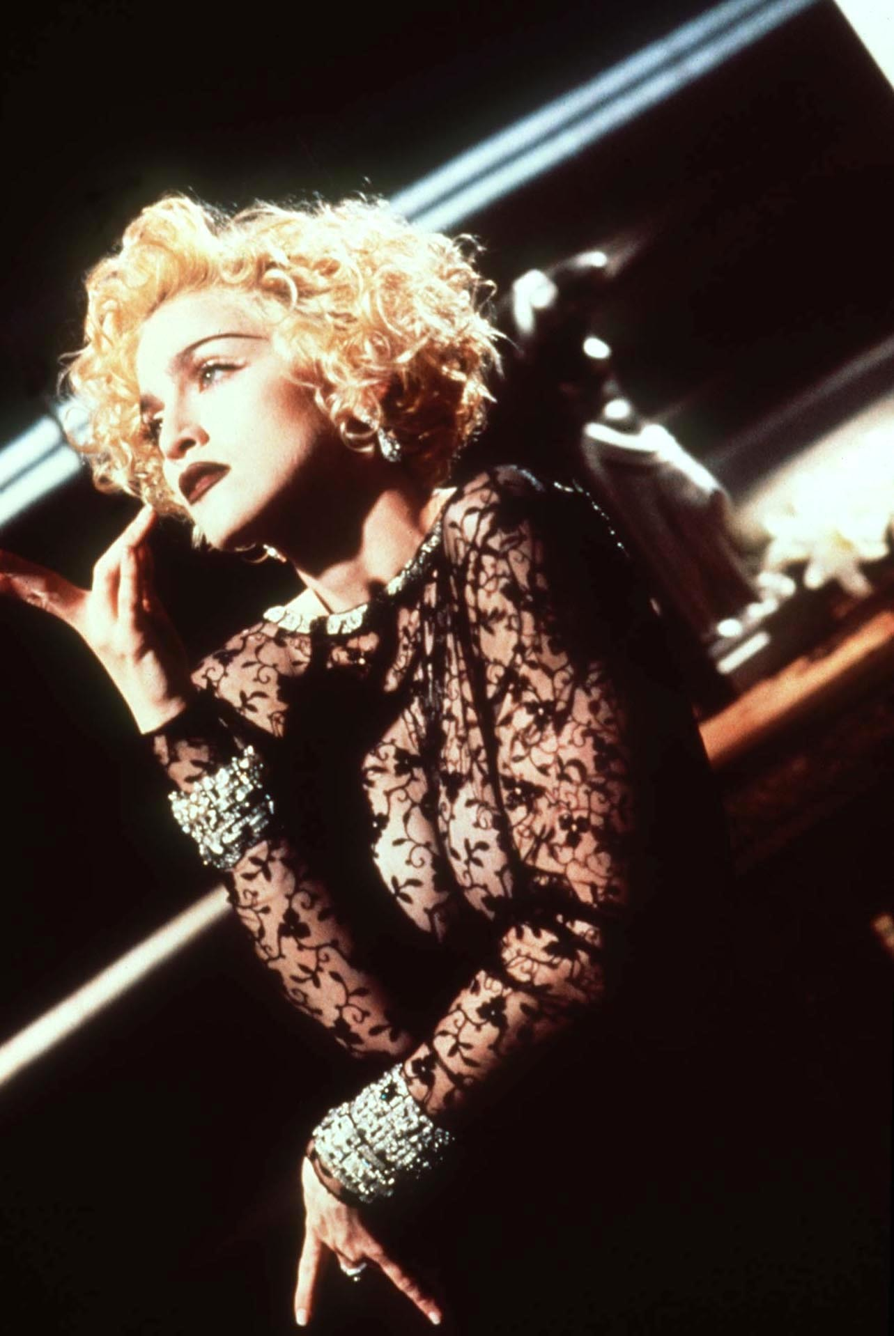 """Madonna in a scene still from her video """"Vogue"""" in 1990."""