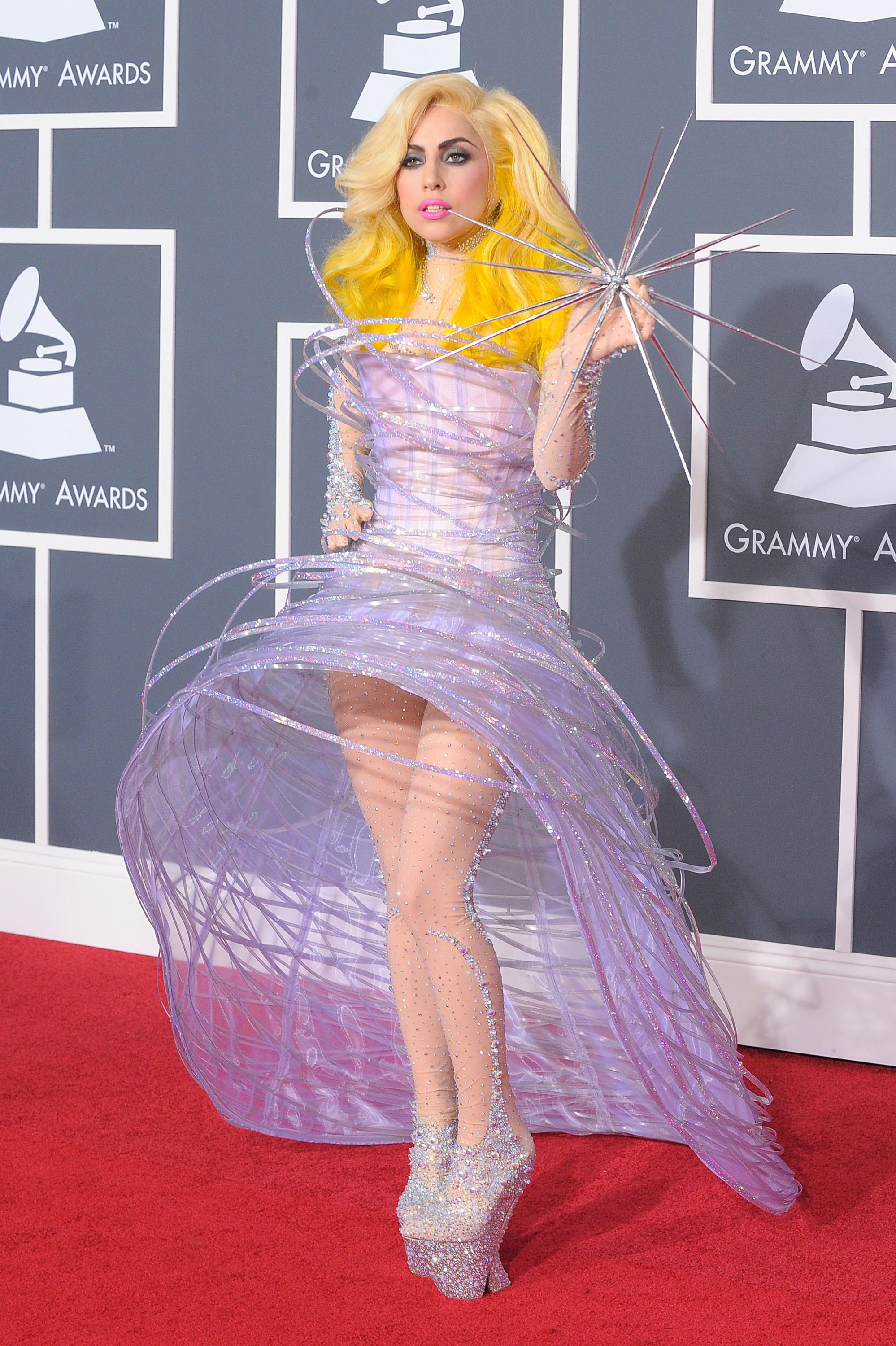 Lady Gaga arrives at the 52nd Annual Grammy Awards held at Staples Center in Los Angeles on Jan. 31, 2010.