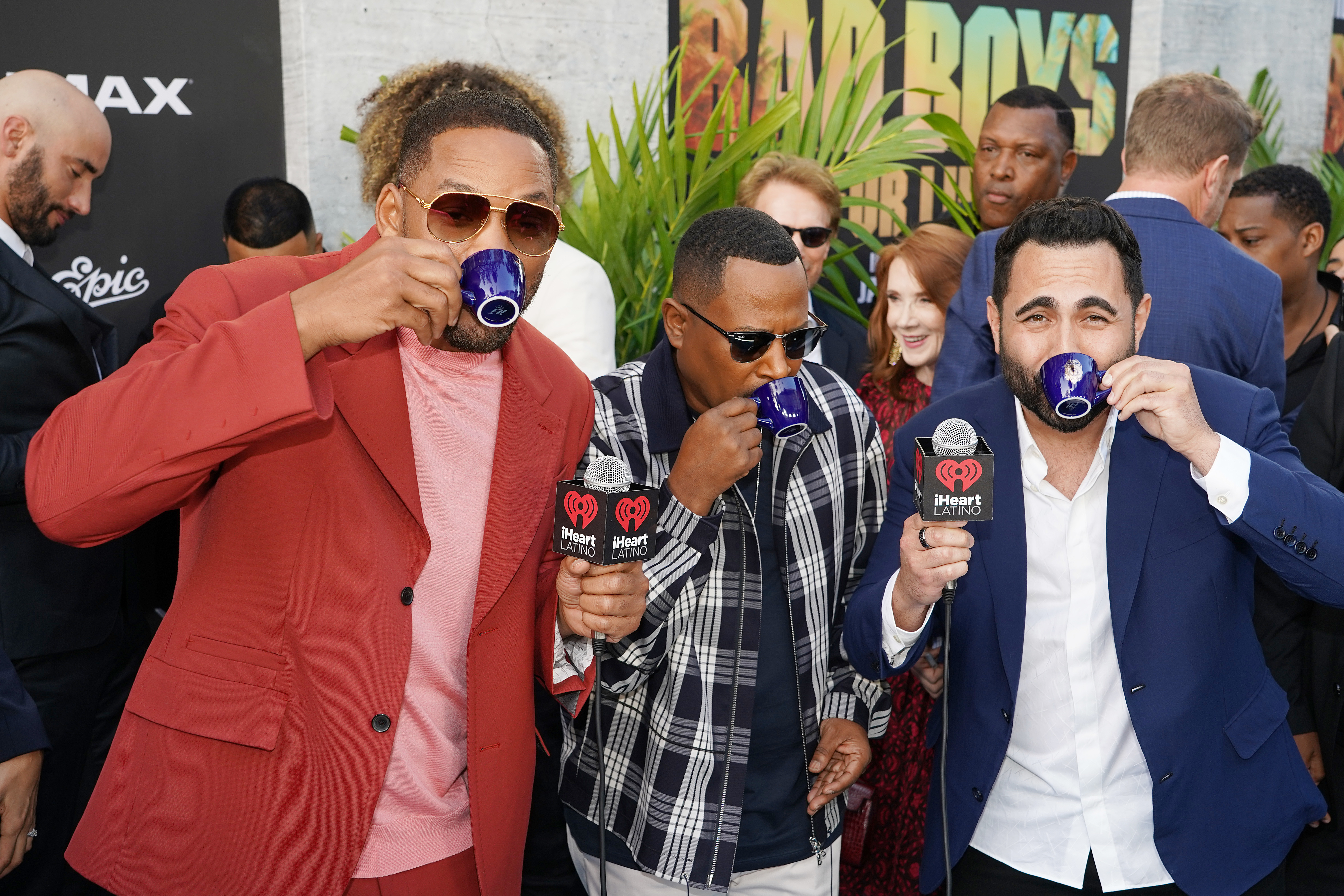 Will Smith, Martin Lawrence and Enrique Santos attend the Bad Boys For Life Miami premiere  in Miami on January 12, 2020.